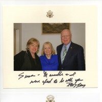 Susan and Senator and Mrs. Leahy at Northeast Kingdom Tasting Center